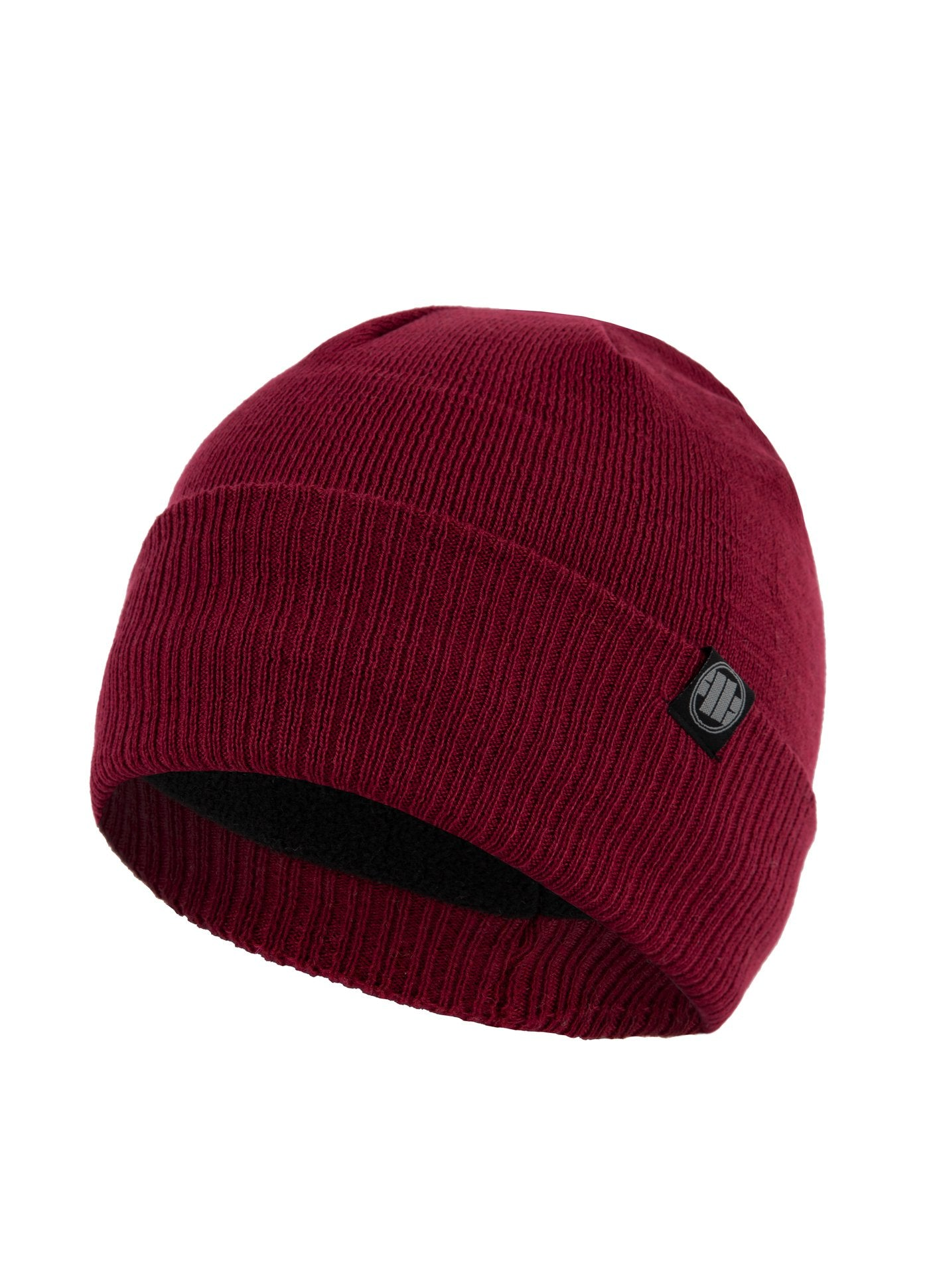 Winter Beanie SMALL LOGO Burgundy - Pitbull West Coast U.S.A.