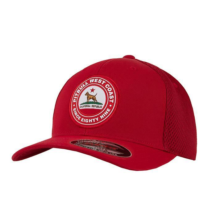 MESH BASEBALL FULL CAP CALIFORNIA Red - Pitbull West Coast U.S.A.