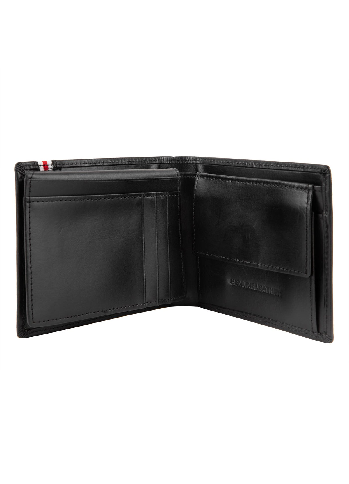LEATHER WALLET LIN WOOD Black