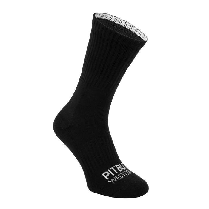 Socks Crew TNT 3pack Black - Pitbull West Coast U.S.A.