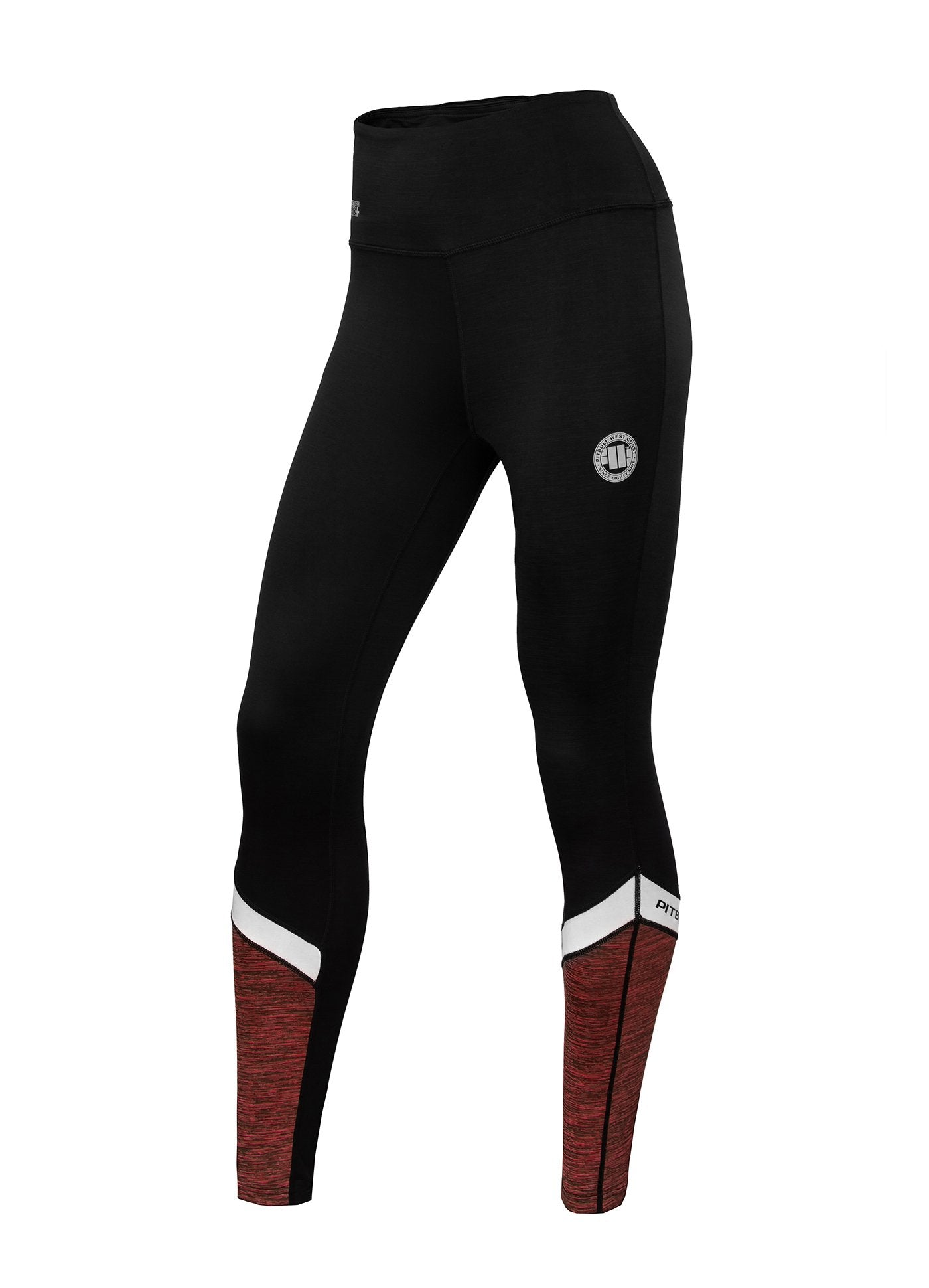 Women's Leggins Compression PRO PLUS MLG Coral Melange - Pitbull West Coast U.S.A.