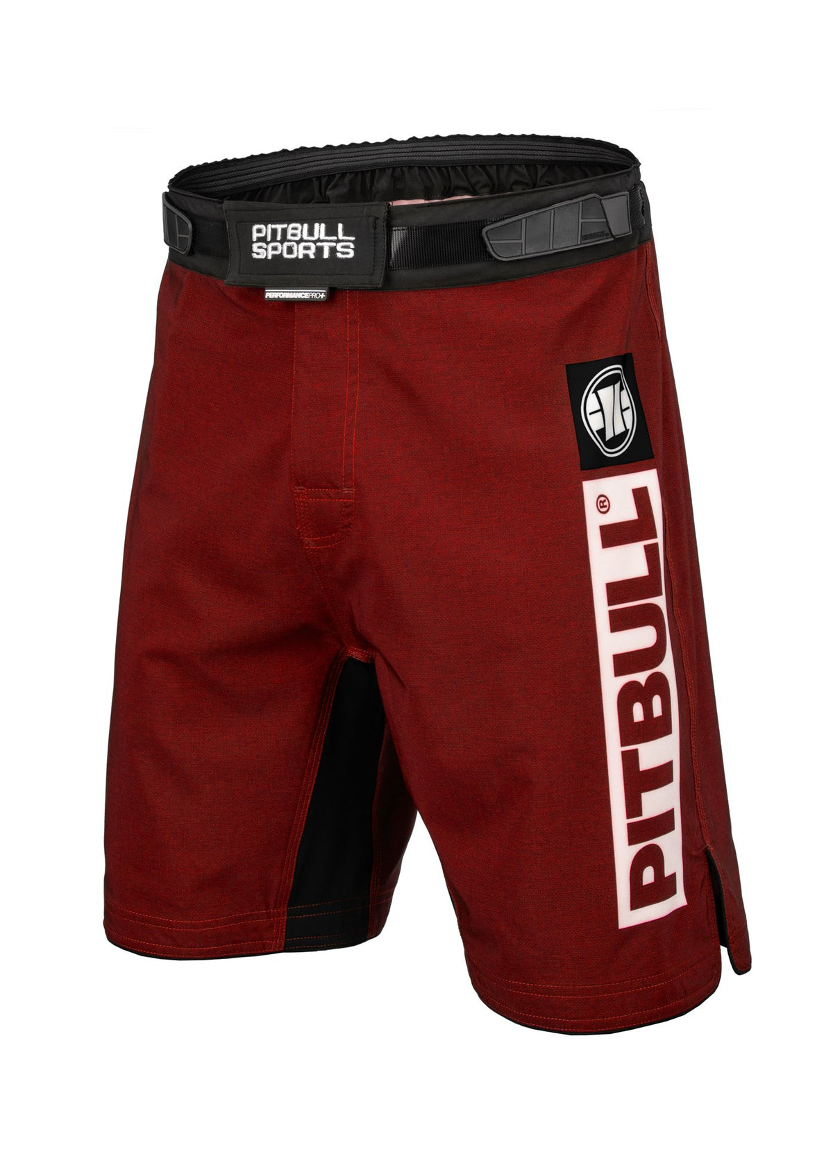 Grappling Shorts HILLTOP Red - Pitbull West Coast U.S.A.