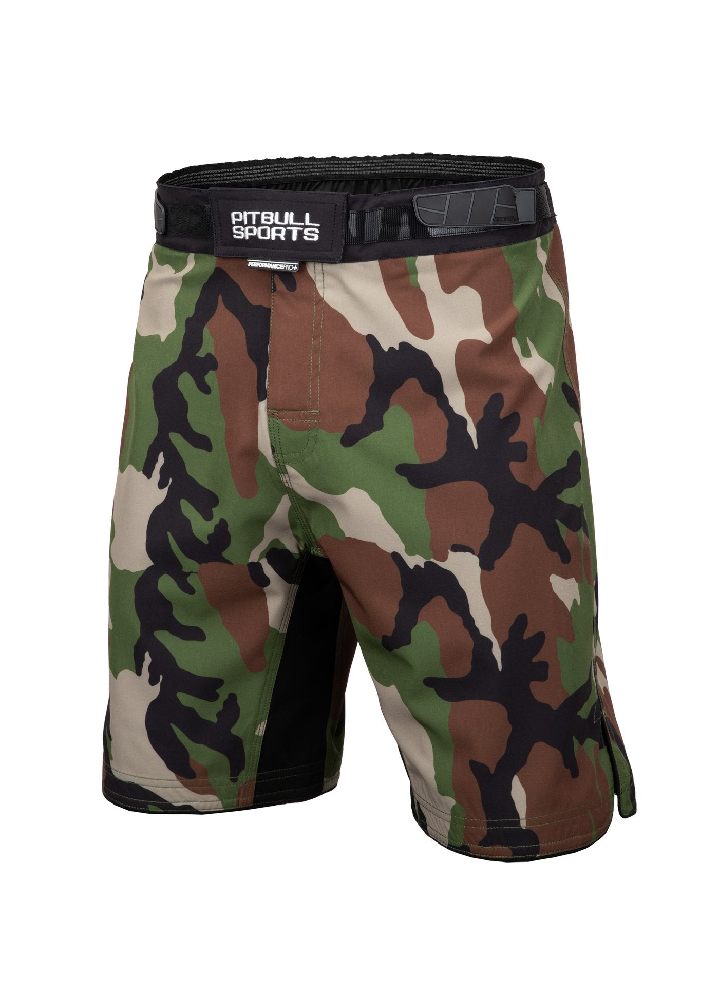 Grappling Shorts PERFORMANCE 203 Woodland Camo - Pitbull West Coast U.S.A.