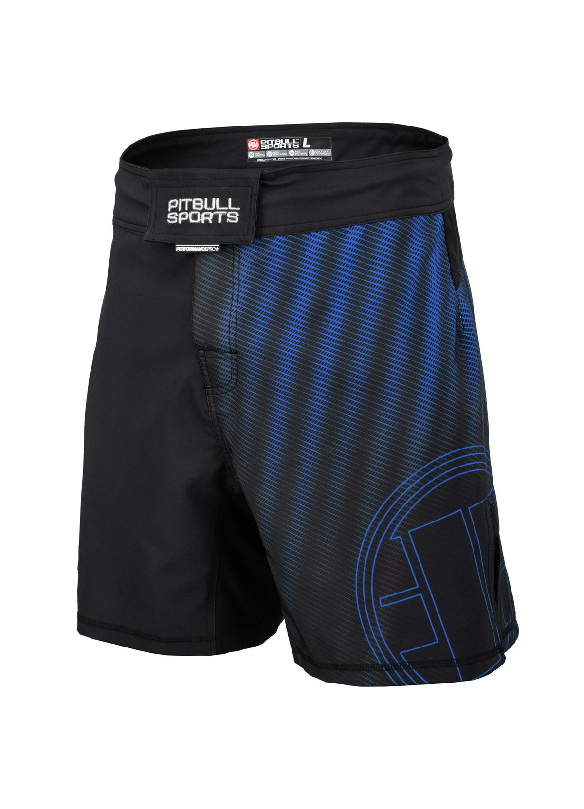 Grappling Shorts RASTER Blue - Pitbull West Coast U.S.A.