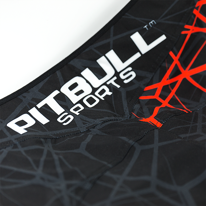 "Grappling Mesh Shorts ""RED RAY"" - Pitbull West Coast U.S.A."