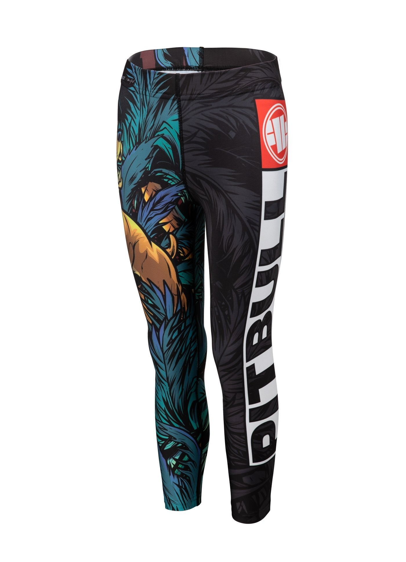 Kids Compression Pants TROPICAL Black - Pitbull West Coast U.S.A.
