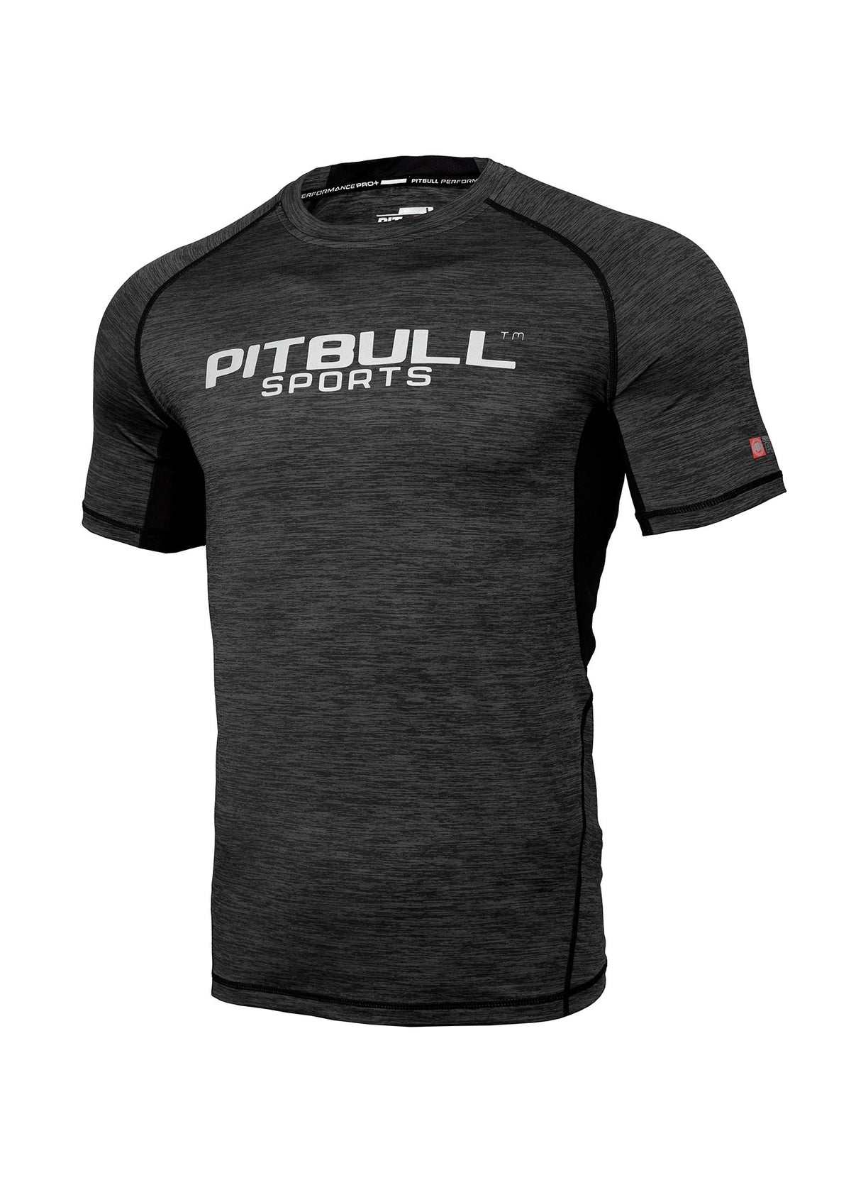 RASHGUARD PRO PLUS MLG Charcoal - Pitbull West Coast U.S.A.