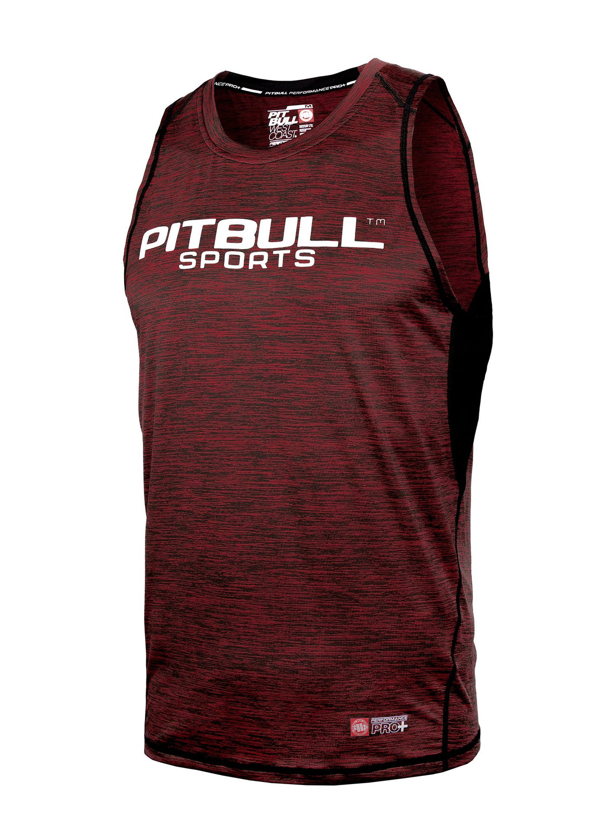 TANK TOP COMPRESSION PRO PLUS MLG Burgundy - Pitbull West Coast U.S.A.