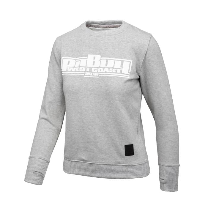 Women BOXING Crewneck Grey - Pitbull West Coast U.S.A.