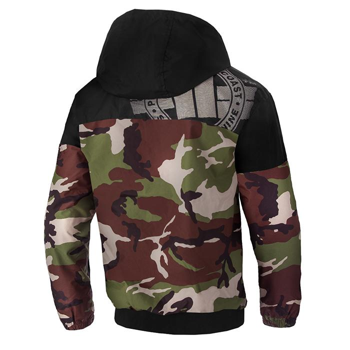 HOMELAND II Hooded Windbreaker Jacket Camo - Pitbull West Coast U.S.A.