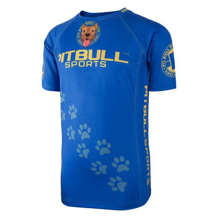 Kids Short Sleeve Rashguard LITTLE PB Blue - Pitbull West Coast U.S.A.