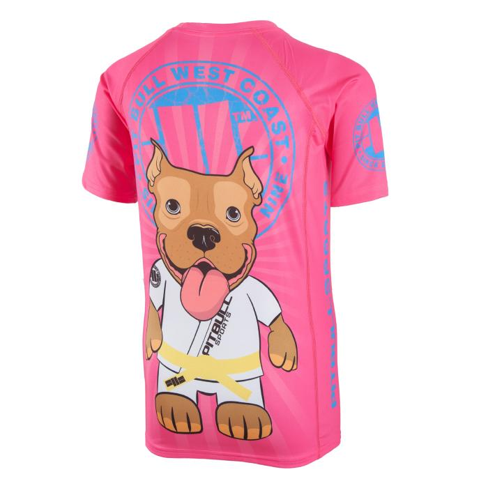 Kids Short Sleeve Rashguard LITTLE PB Pink - Pitbull West Coast U.S.A.