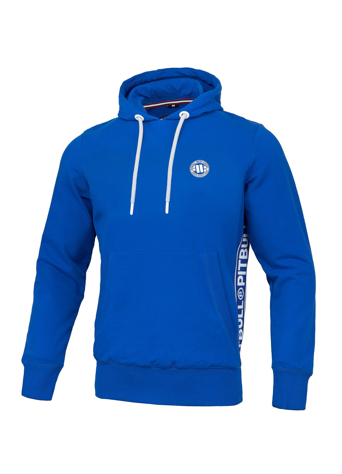 Hooded Small Logo FRENCH TERRY Royal Blue - Pitbull West Coast U.S.A.