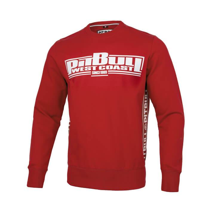 Boxing Crewneck FRENCH TERRY Red - Pitbull West Coast U.S.A.