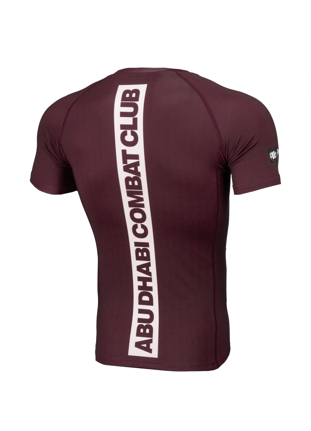 ADCC HILLTOP Short Sleeve Rashguard BURGUNDY - Pitbull West Coast U.S.A.