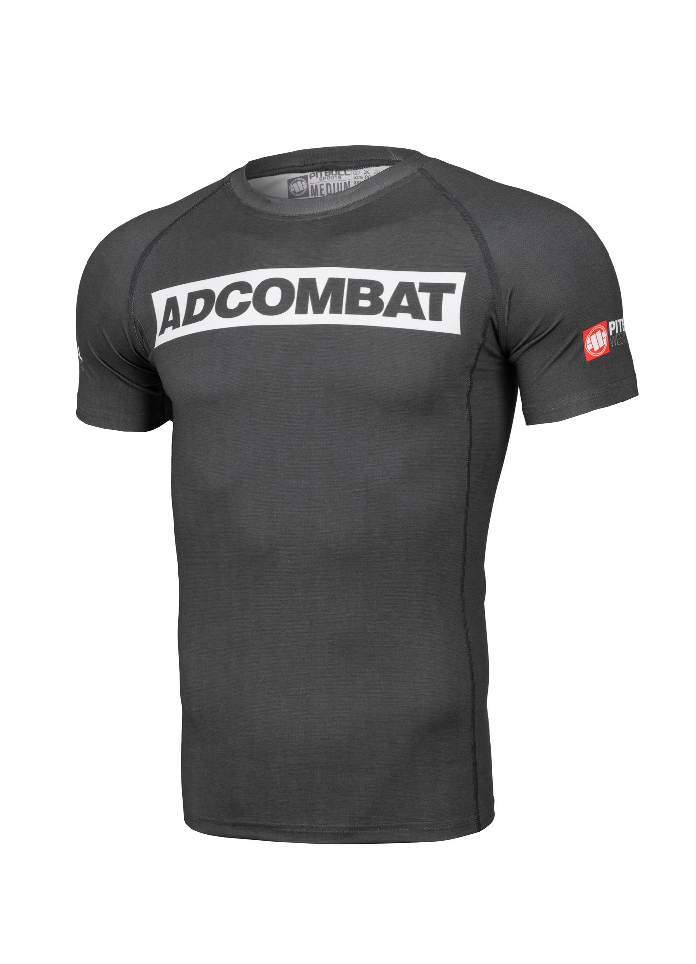 ADCC HILLTOP Short Sleeve Rashguard GREY - Pitbull West Coast U.S.A.