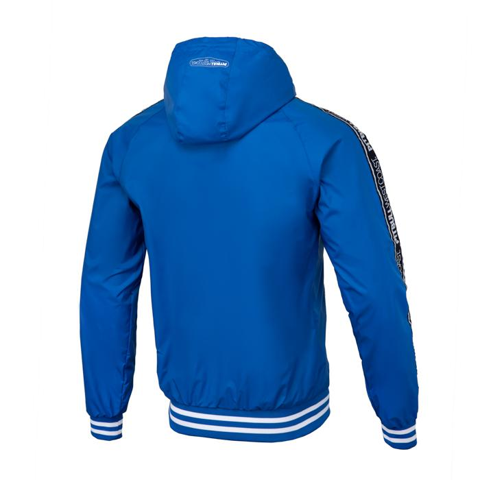 Hooded Windbreaker Jacket HULL Royal Blue - Pitbull West Coast U.S.A.