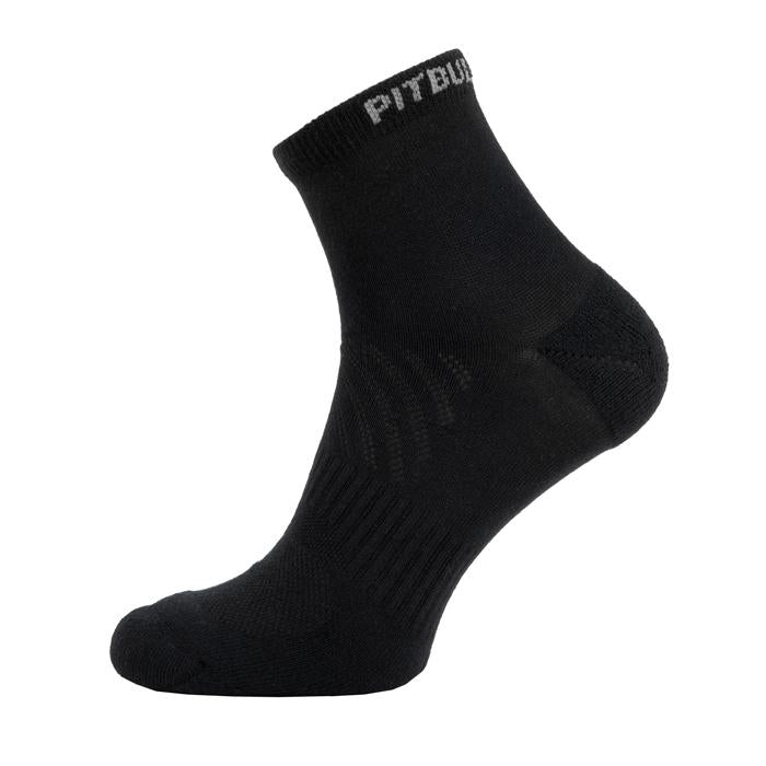 Socks Quarter PitbullSports 2 Pairs Black - Pitbull West Coast U.S.A.