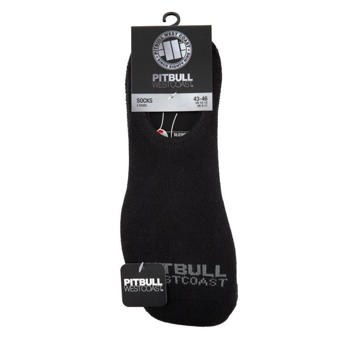 Super No Show Socks 3pack Black - Pitbull West Coast U.S.A.