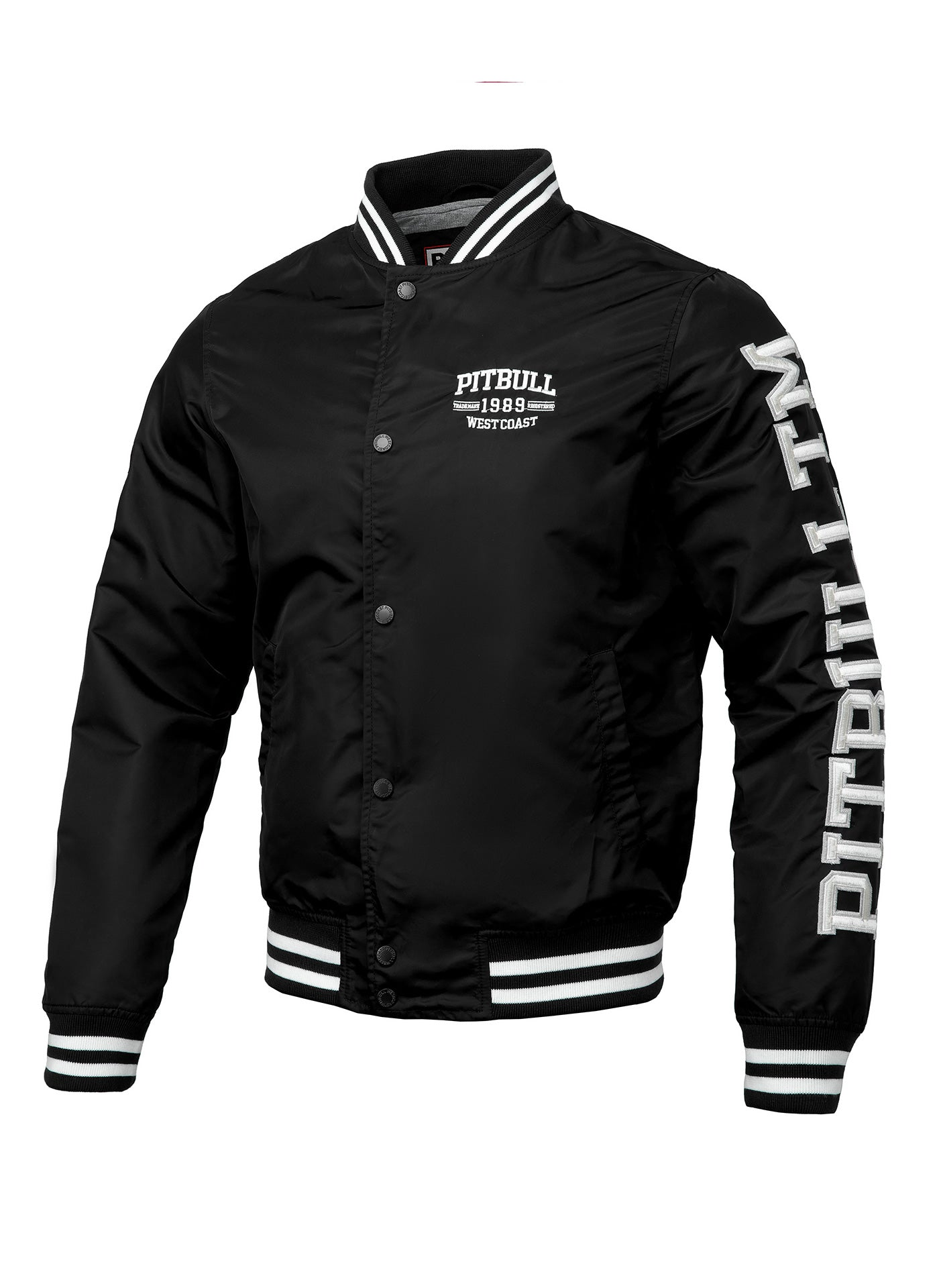 Varsity Jacket HERMANN Black - Pitbull West Coast U.S.A.