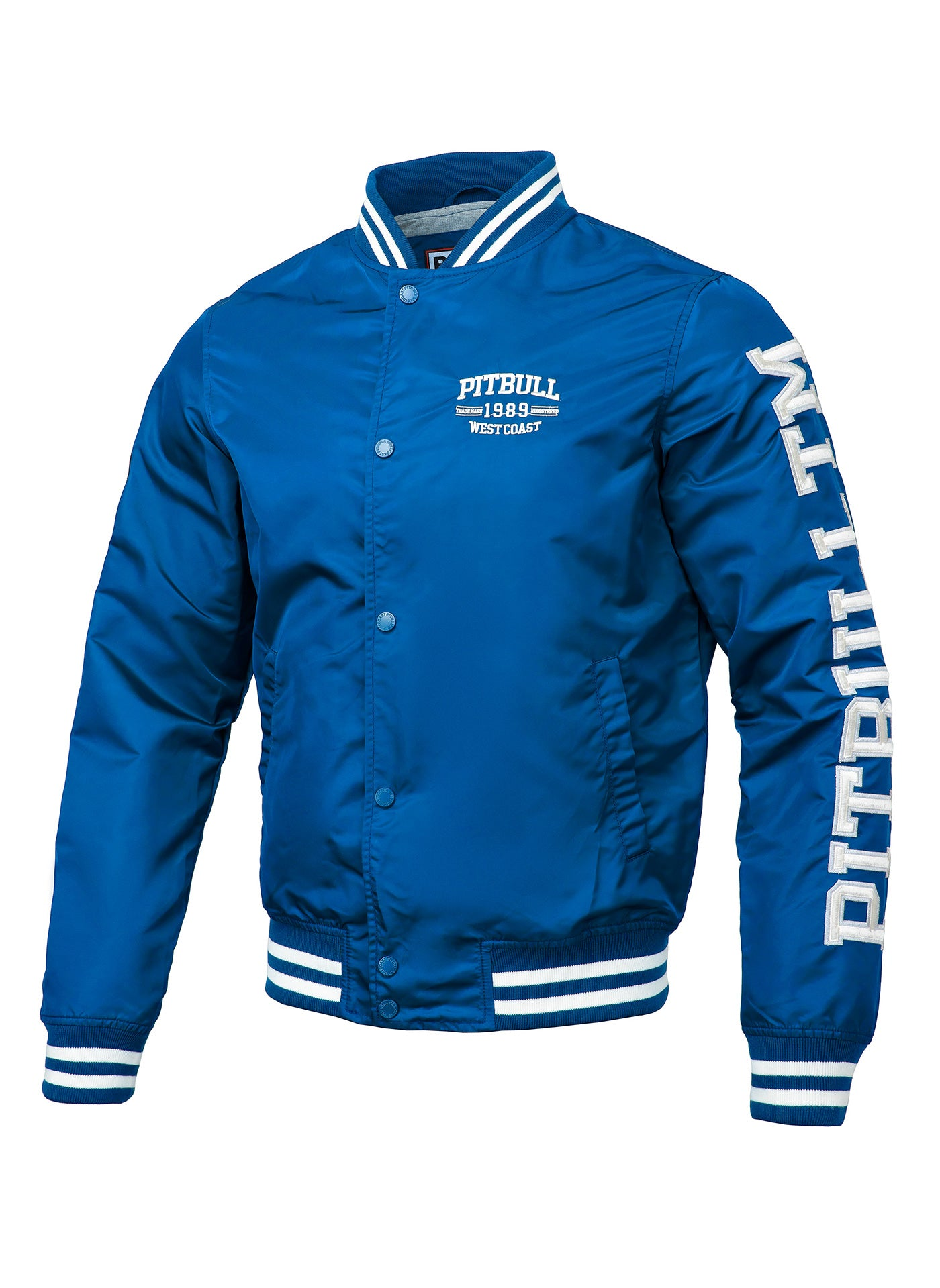 Varsity Jacket HERMANN Blue - Pitbull West Coast U.S.A.