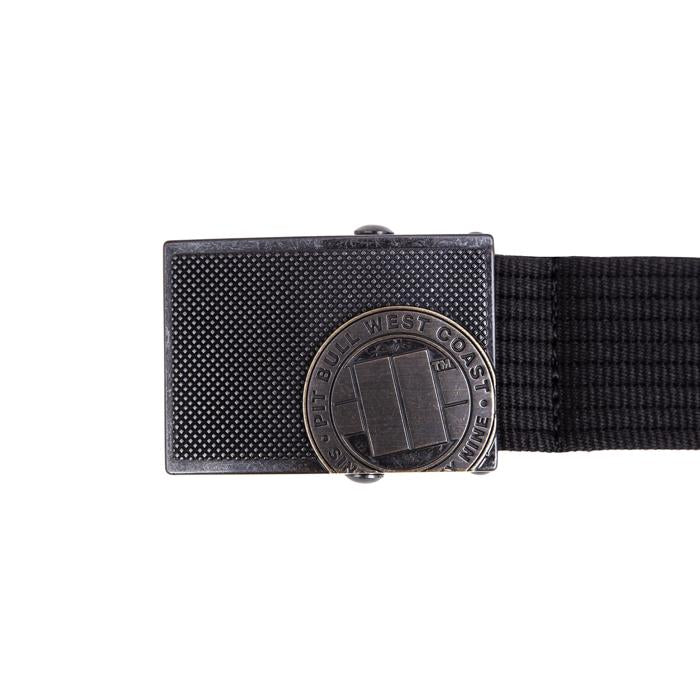 Webbing Belt Logo Black - Pitbull West Coast U.S.A.