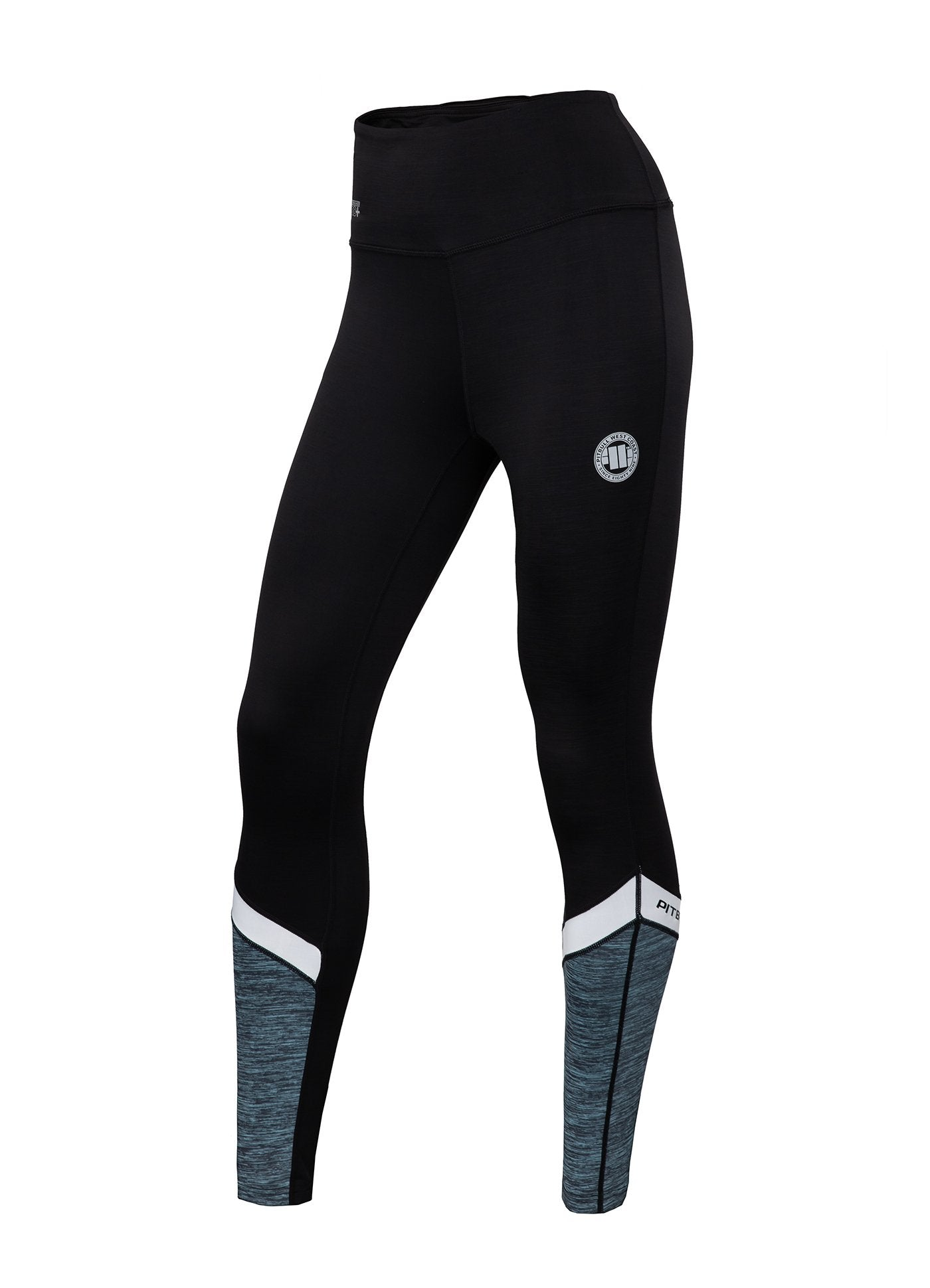 Women's Leggins Compression PRO PLUS MLG Turquoise Melange - Pitbull West Coast U.S.A.