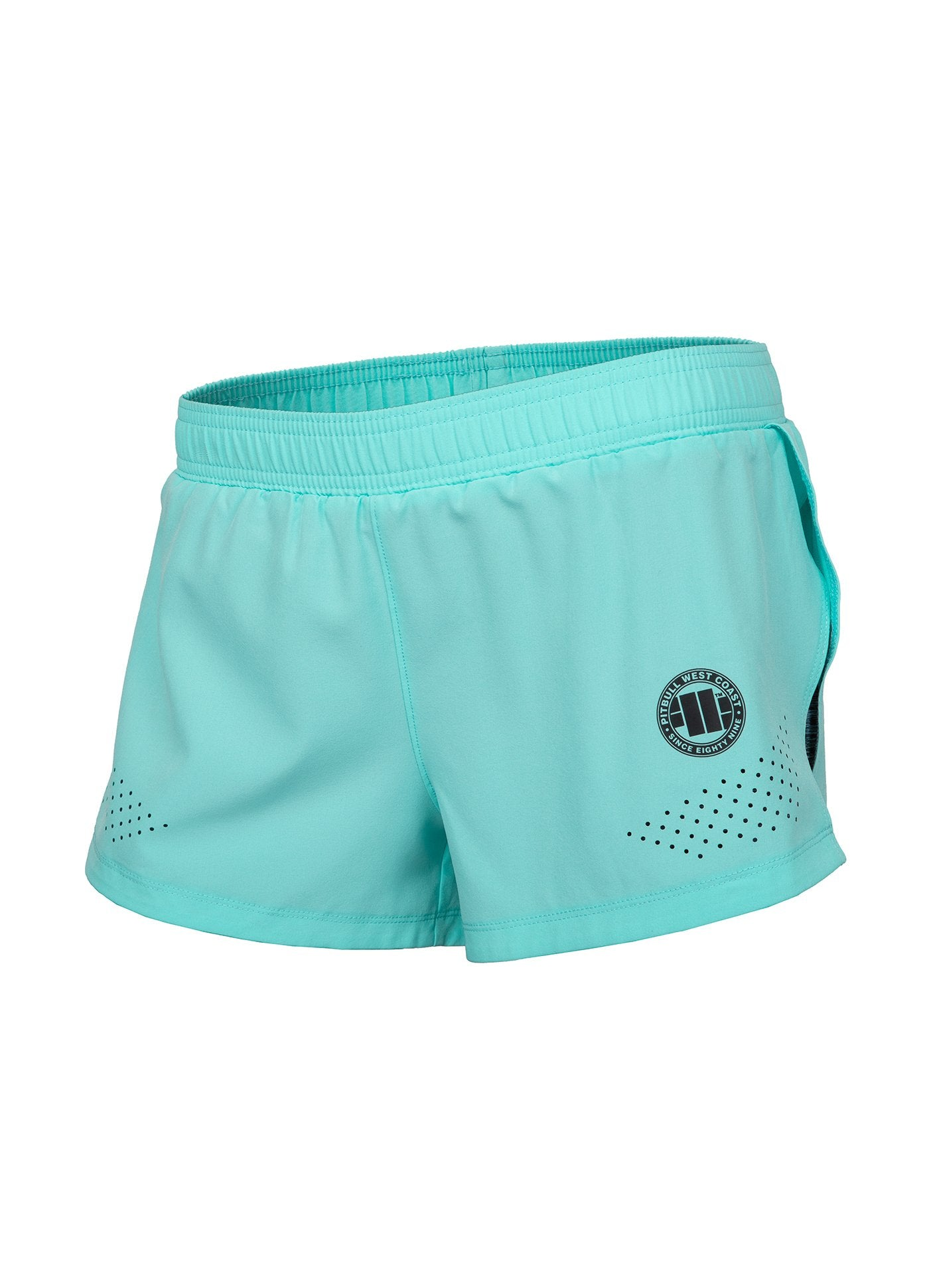 Women Shorts PRO PLUS MLG Turquoise Melange - Pitbull West Coast U.S.A.