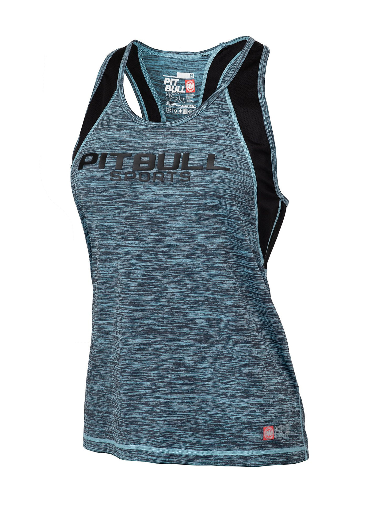 WOMEN TANK TOP PERFORMANCE MLG Turquoise Melange - Pitbull West Coast U.S.A.