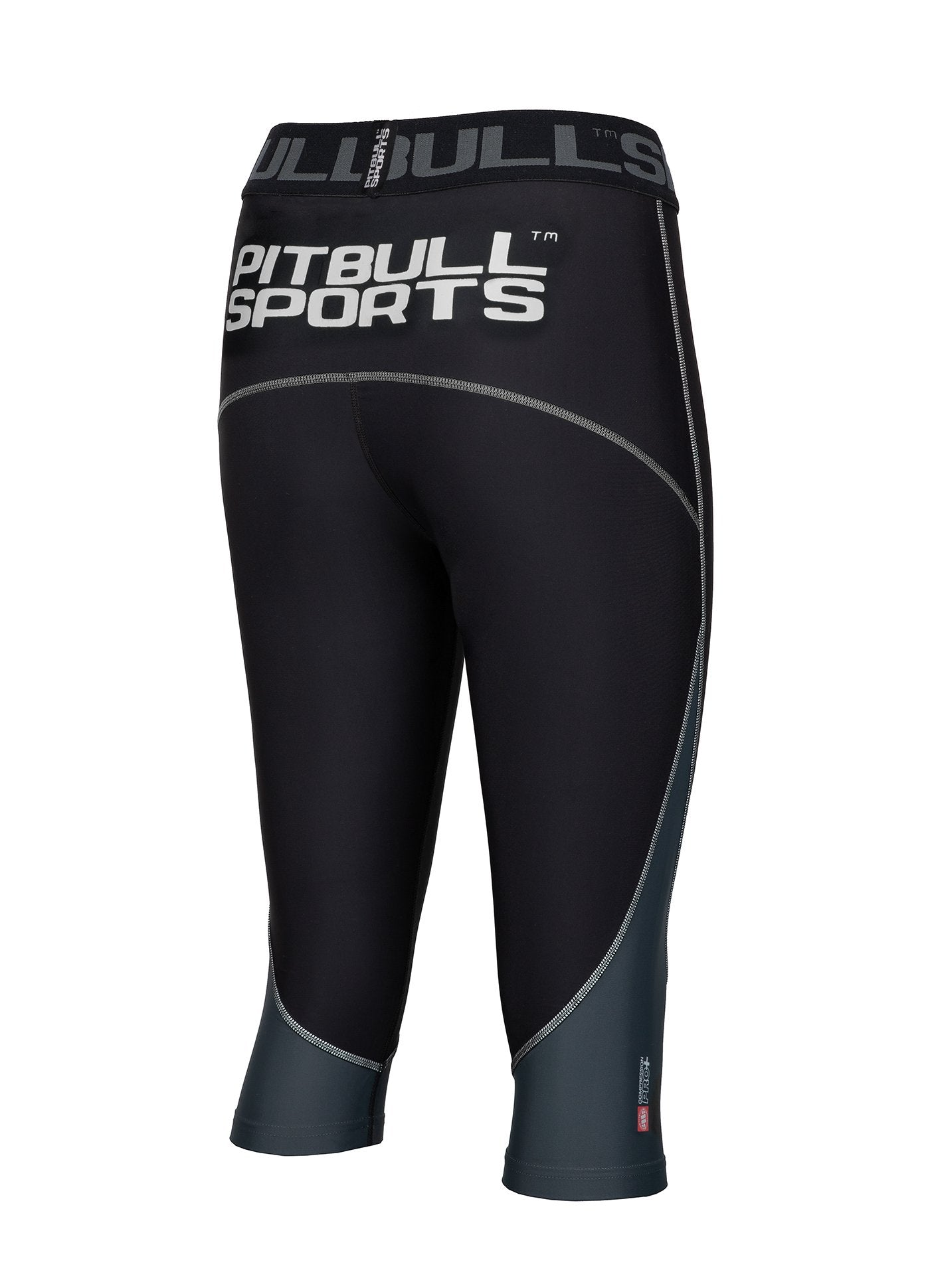 Women's Short Leggins Compression PRO PLUS Black - Pitbull West Coast U.S.A.