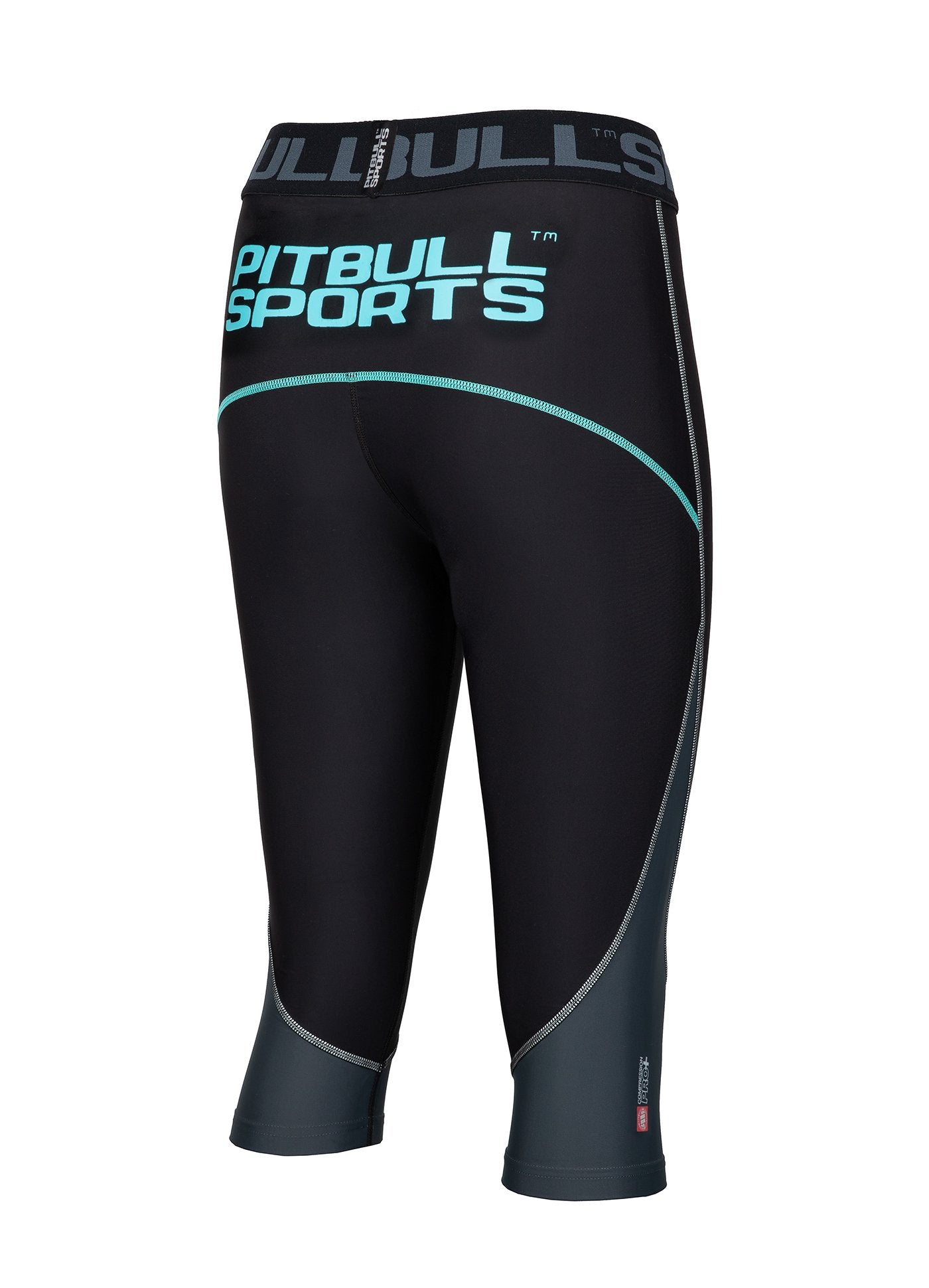 Women's Short Leggins Compression PRO PLUS Blue - Pitbull West Coast U.S.A.