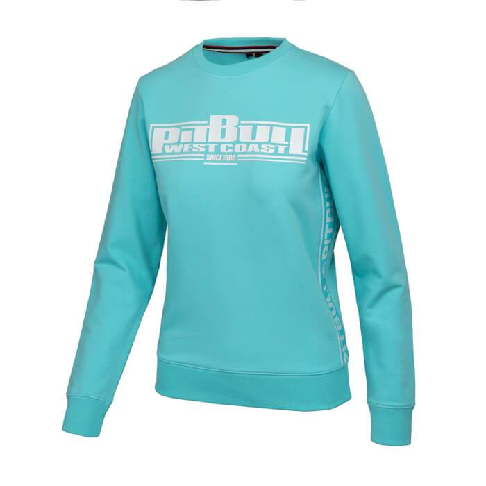 Women crewneck BOXING FRENCH TERRY Blue - Pitbull West Coast U.S.A.