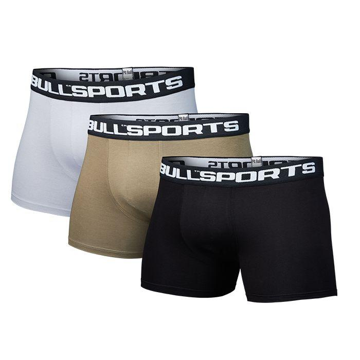Boxer Shorts IV 3pack Olive/Black/Grey - Pitbull West Coast U.S.A.