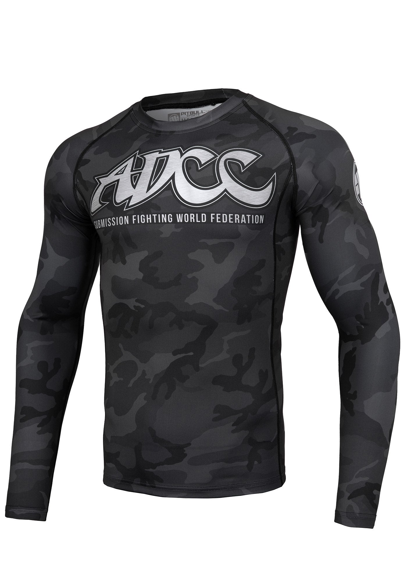 ADCC ALL BLACK Long Sleeve Rashguard - Pitbull West Coast U.S.A.
