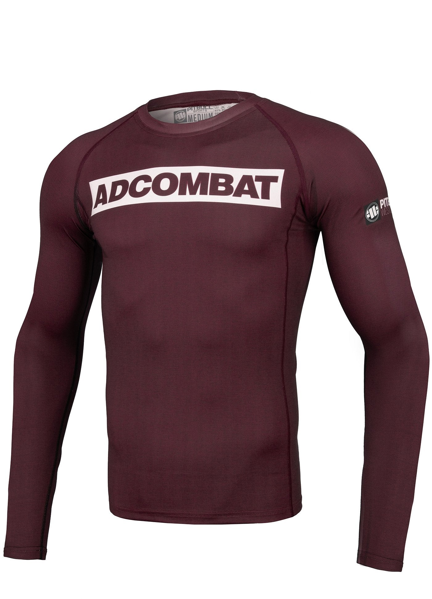 ADCC HILLTOP Burgundy Long Sleeve Rashguard - Pitbull West Coast U.S.A.