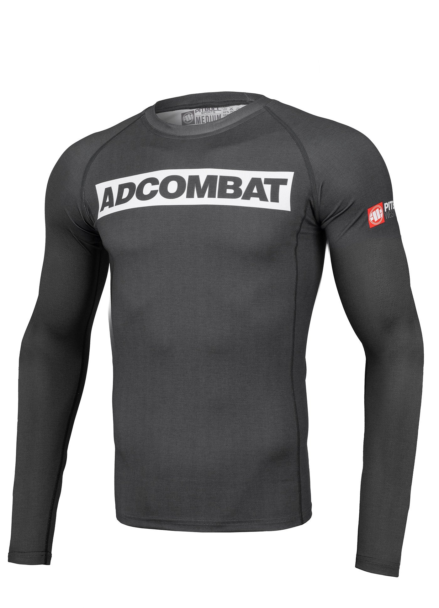 ADCC HILLTOP Grey Long Sleeve Rashguard - Pitbull West Coast U.S.A.