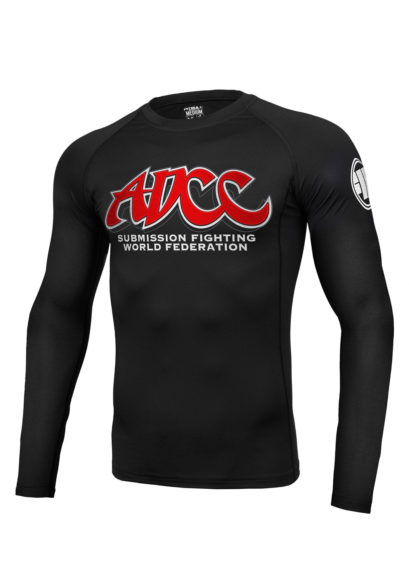 ADCC LOGO Long Sleeve Rashguard - Pitbull West Coast U.S.A.