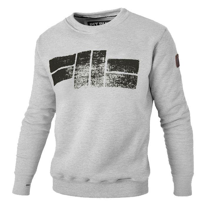Crewneck CLASSIC LOGO 18 Grey - Pitbull West Coast U.S.A.