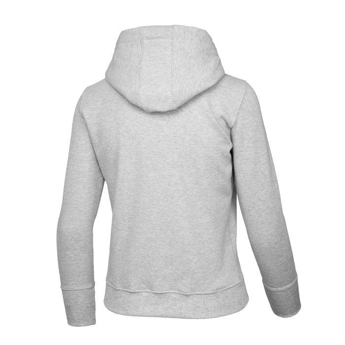 Women CAL FLAG Hoodie Grey - Pitbull West Coast U.S.A.