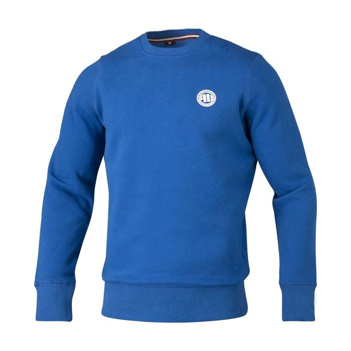 Crewneck SMALL LOGO 18 Royal Blue - Pitbull West Coast U.S.A.