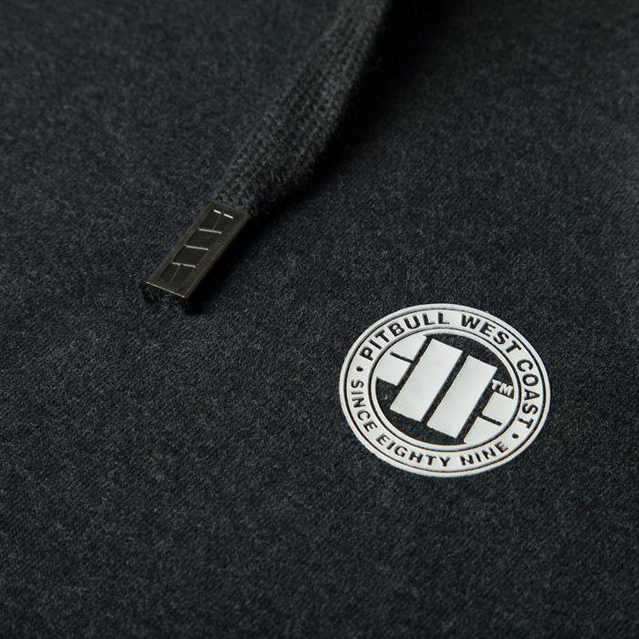 Hooded Small Logo Sweatshirt 18 Charcoal - Pitbull West Coast U.S.A.