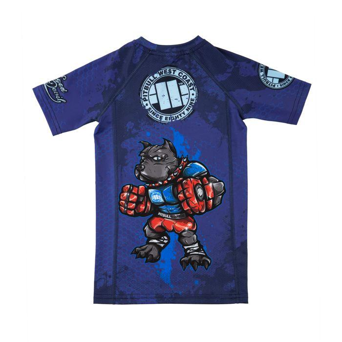 "Kids Short Sleeve Rashguard ""BED"" - Pitbull West Coast U.S.A."