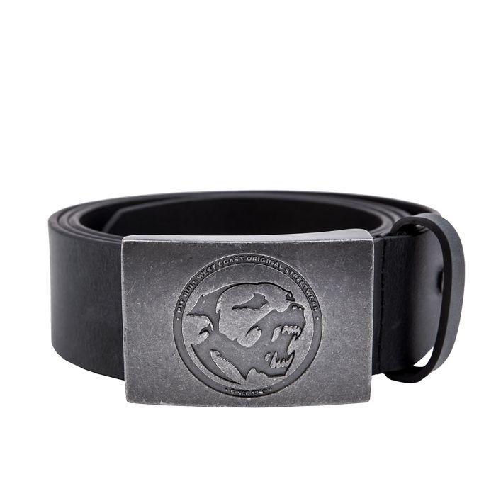 Leather Belt BONES Black - Pitbull West Coast U.S.A.