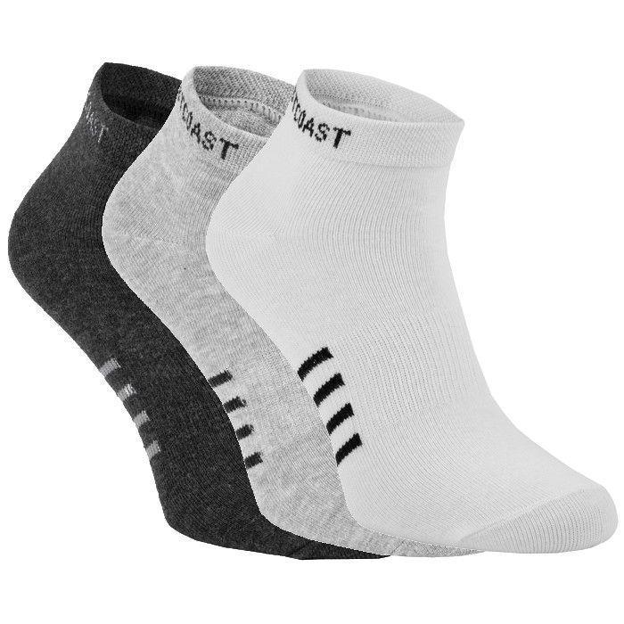 Low Ankle Socks 3pack White/Grey/Charcoal - Pitbull West Coast U.S.A.
