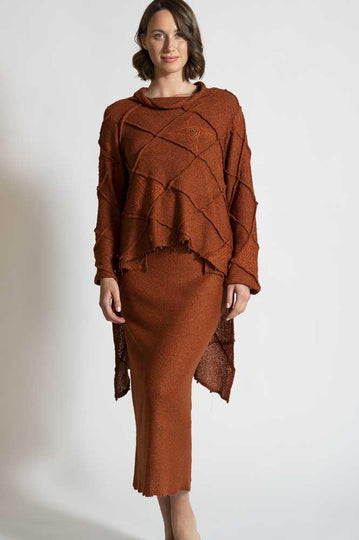 RUST TUNIC TOP AND SKIRT