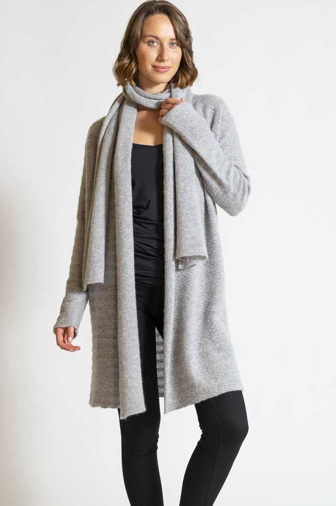 PANELLED LUXURY CASHMERE CARDIGAN