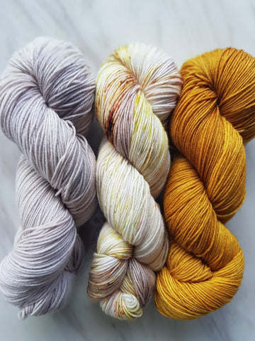 3 skein Shawl Kit - Marmalade Sock