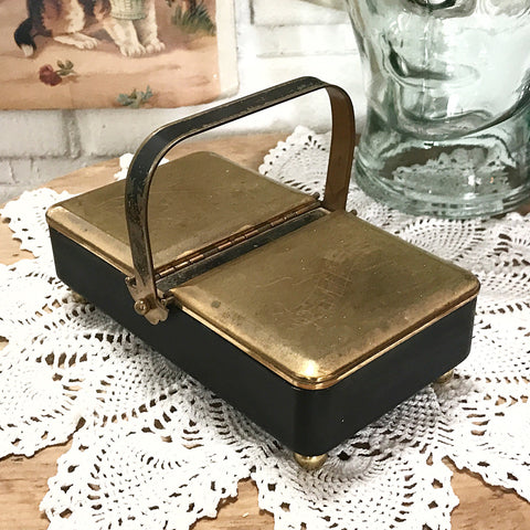 50% OFF Antique Music Box, Made in England, plays Classical Music. Musical Jewelry Box. Antique Black enamel, engraved Brass. German music b - TheOldJunkTrunk