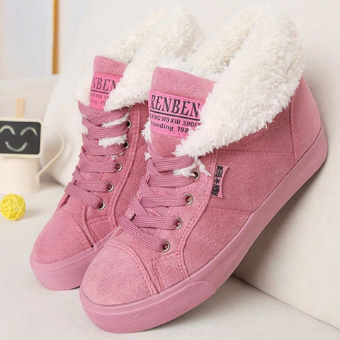 New fashion fur female warm ankle boots women boots snow boots and autumn winter women shoes #Y10308Q - TheOldJunkTrunk