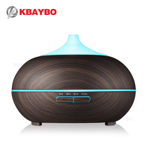 300ml Aroma Diffuser Aromatherapy Wood Grain Essential Oil Diffuser Ultrasonic Cool Mist Humidifier for Office Home - TheOldJunkTrunk